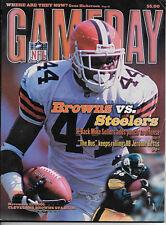 NFL PITTSBURGH STEELERS @ CLEVELAND BROWNS GAMEDAY PROGRAM MAGAZINE 11/11/200 VG
