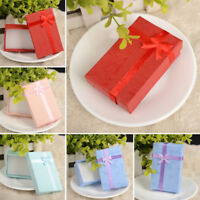 6 Pcs High Quality Jewelry Gift Boxes Bag Necklace Bracelet Ring Case Wholesale