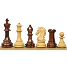 """3.9"""" Craftsman Knight Staunton Chess Pieces Only set-Triple weighted Rose Wood"""