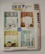 McCall's 4407 Valances 2 Hour Patterns
