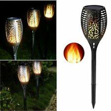 LED Solar Lampen Außen Solarlampen Garten Beleuchtung Steck LED Flamme Leuchten