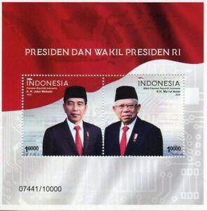 Indonesia People Stamps 2020 MNH President Joko Widodo & Vice President 2v M/S