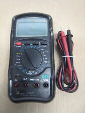 Altek 587 4-1/2 Digit Industrial Digital Multimeter w/ Test Leads & Holster Used
