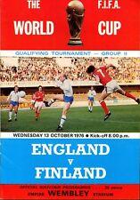 B5 Inglaterra V Finlandia 13.10.76 Copa del Mundo de grupo 2 que cumplen los requisitos