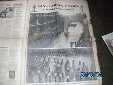 News Chronicle 1936 King George V Funeral