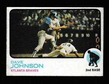 1973 topps #550 Dave Johnson Atlanta Braves
