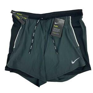 Nike Flex Swift 2-in-1 Running Shorts Men's Medium Black CJ9708 010