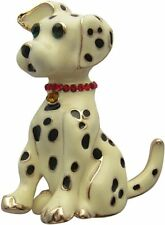 Black & Creamy White Spotted Dalmation Dog Brooch Puppy Dog Brooch New