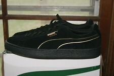 Mens Puma Suede Foil FS Black Gold Sz 11.5 or 12