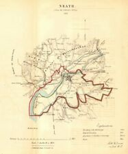 NEATH/CASTELL-NEDD borough/town plan for the REFORM ACT. Wales. DAWSON 1832 map