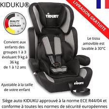Siège Bébé Auto KIDUKU® Noir enfant évoluant de 1 à 12 ans Conforme Européenne