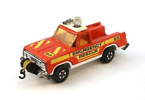 Matchbox Super Kings Plymouth Trail Duster Emergency Rescue 1978 Lesney England