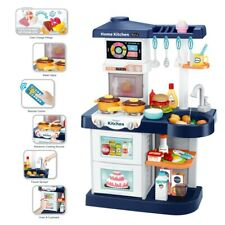 Kitchen Playset With Light Sound Effect Pretend Baby Kids Play Toys Cooking Set