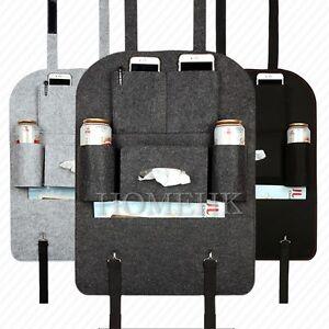 Car Seat Back Storage Bag Hanging Organizer Multi Pocket Felt High Quality Tough
