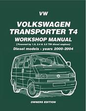 VW Transporter T4 Mnl, Diesel 2000 on (Diesel Models 2000 on)