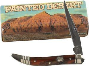Rough Rider Painted Desert Toothpick Pocket Knife RR1006 Single Folding Blade