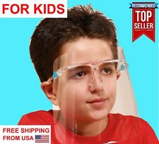 Face Shield FOR KIDS BOYS GIRLS with eye Glasses Clear Glass Mask Guard 2 3 4 5