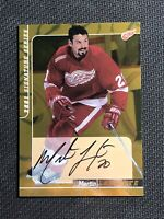2000-01 BE A PLAYER BAP SIGNATURE SERIES MARTIN LAPOINTE AUTO GOLD #62
