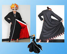 Japanese Anime cosplay costumes Bleach Costume Kurosaki ichigo Cloak Only SIZE S