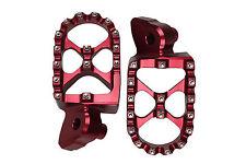 RED MX Motocross Footrests Foot Pegs SUZUKI RMZ250 RMZ450 RMZ 250 450 05-09