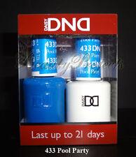 DND Daisy Soak Off Gel Polish Pool Party 433 full size 15ml LED/UV gel duo