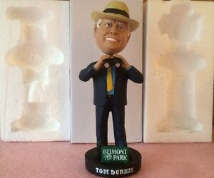 Tom Durkin Retirement Bobblehead - Belmont Park - New / Mint / Unopened - RARE!