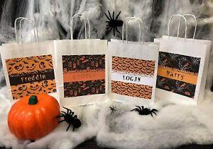 Personalised Boys Happy Halloween Trick or Treat Bags Party Bags Loot Bag