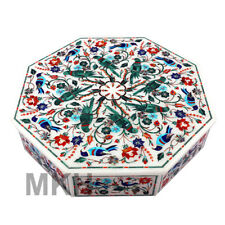 Marble Box Vintage Inlay Jewelry Boxes Handmade Bird Scagliola Marquetry Mosaic