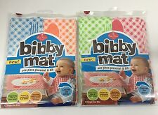 Bibby Mat Disposable Bibs Placemat 12 Pack Lot of 2 (NEW)