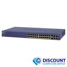 Netgear Prosafe FS728TP v1 24-Port 10/100 Ethernet Network Switch PoE
