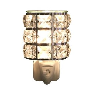 AROMATIZE Plug-In Lamp Night Light Wax Melt Burner Warmer - CLEAR CRYSTAL