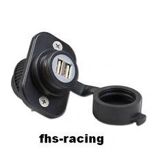 12 V doble-USB-instalación enchufe, enchufes, motocicleta, roller, barco, tractor