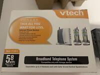 VTech IP8100-2 5.8 GHz Dual Handsets Single Line Cordless Phone