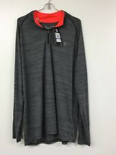 Under Armour Heatgear 1/4 Zip Long Sleeve Mens Training Top Xl, Gray. Nwt