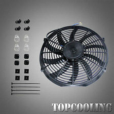 14Inch 12V Pull/ Push Slim Radiator Electric Cooling Thermo Fan + Mounting Kits
