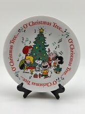Vintage Peanuts Snoopy Charlie Brown O Christmas Tree Determined Plate