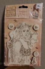 Brand New Sealed Docrafts Santoro London Willow Rubber Stamp Colour Me In