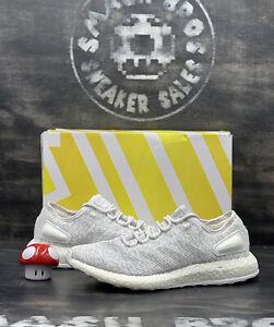 Adidas PureBoost boost ultra Clear Grey 2017 BA8893 Size 11 White Gray running
