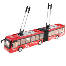 Large Pull Back City Rail Transit Trolley Bus Kids Vehicles Toy Collection Gifts