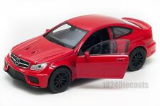 BLITZ VERSAND Mercedes Benz C63 AMG Coupe rot red Welly Modell Auto 1:34 NEU OVP