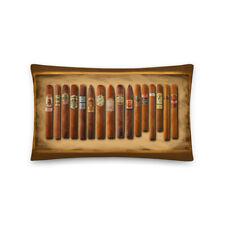 Cigar Sampler Painting Cigars Pillow