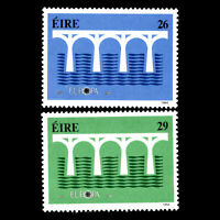 Ireland 1984 - EUROPA Stamps - Bridges - The 25th Anniversary - Sc 592/3 MNH