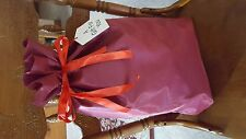three large reusable valentines day gift present bags ribbon drawstring w tag
