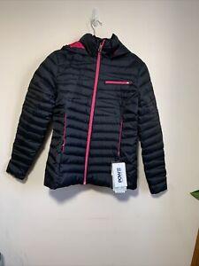 Brand New Spyder Women's Timeless Navy Black /Hot Pink Down Ski Jacket (Medium)