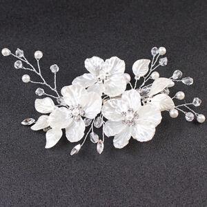 Bridal Crystal Pearl Flower Hair Clip Hair Jewelry Wedding Hair Accessory n_hg
