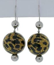Dolce & Gabbana Jewels DJ0655 Women's Leopard Print Ball Hook Earrings 1 1/4""
