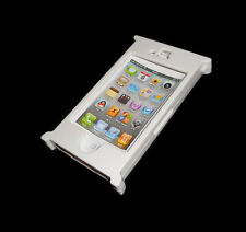 WHITE RIGID PLASTIC DOOR MIRROR APPLE IPHONE 4 4S CASE SUPER FAST SHIPPING
