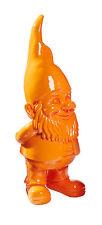 Dekofigur GartenZwerg Gartenfigur Figur Gartendekoration Deko Garten orange #