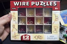 Wire Puzzles, set of 12, by Schylling