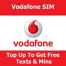 Pay as you go Tarjeta Sim en Vodafone para todos los teléfonos Top Up Get free de datos y textos